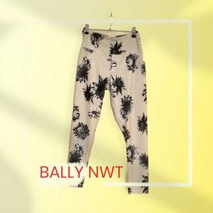BALLY ANKLE LEGGING  FLORAL PATTERN HIGH RISE  L
